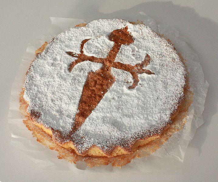 Origen y leyenda de la tarta de Santiago